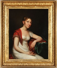 portrait of a young woman by american school (19)