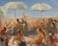bagnanti sulla spiaggia by gaetano spinelli
