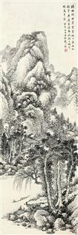 云寒独钓 (landscape) by dai yiheng