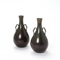 small vases wirh handles (pair) by just andersen