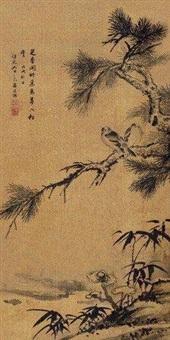 松溪双禽 by jiang tingxi