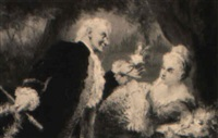 tändelndes, elegantes paar im stil des rokoko by maxmilian aurel reinitz rasko