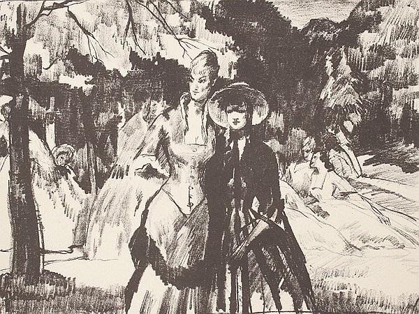 im garten (+ die kokotte; 2 works) by ferdinand dorsch