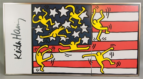 hängebar stars and stripes by keith haring