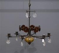 lustre à six bras de lumière by erik höglund