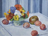 nasturtiums and plums by rose brigid ganly