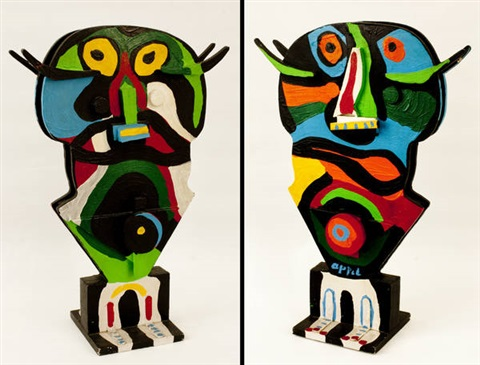 senza titolo double sided by karel appel