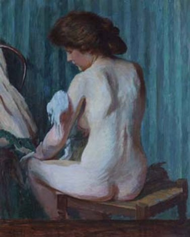female nude by charles jean agard