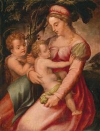 madonna mit kind und johannesknaben by pier francesco di jacopo foschi