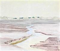 fra skiverne, landscape near frederikshavn by victor haagen-müller
