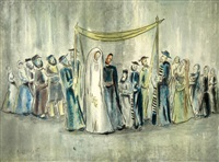 jewish wedding by joseph kossonogi