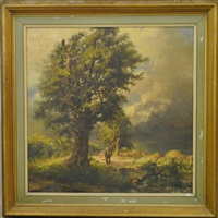 homme à cheval dans un paysage by gilbert maurice hubin
