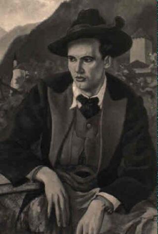 portrait eines jungen südtirolers in tracht by fritz rocca humpoletz
