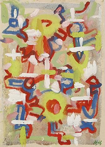 komposition mit weißen strukturen by hannah höch