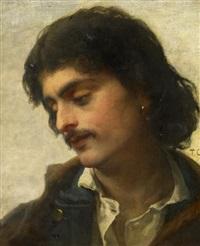 porträt eines jungen mannes nach rechts by thomas couture