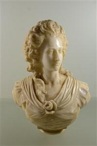 buste en marbre de marie antoinette by augustin pajou