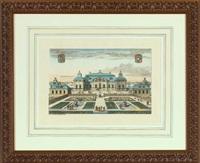 views of swedish gardens and estates (suite of 8) by johannes van den aveelen