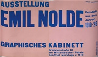zwei bll. plakate ausstellung vincent van gogh und ausstellung emil nolde im graphischen kabinett münchen (2 works) by jan tschichold