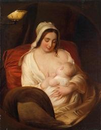 eine junge mutter ihr kind stillend by john opie