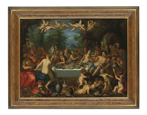the feast of the gods or the marriage of peleus and thetis by hans rottenhammer the elder