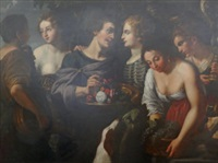 an allegory of the senses by nicolas regnier