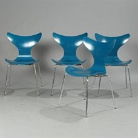 the seagull chairs (set of 4) by arne jacobsen