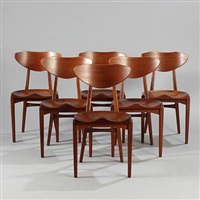 chairs (set of 6) by richard jensen and kjaerulff rasmussen