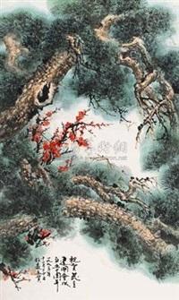 松梅图 by xia baisen