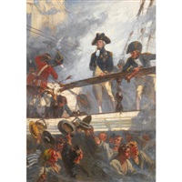 close action: nelson at trafalgar, 1805 by fred roe