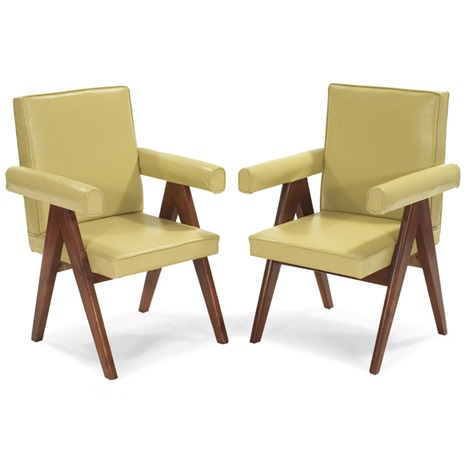 committee armchairs pair by pierre jeanneret