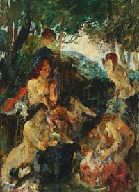 baigneuses by ludvig jacobsen