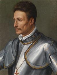 bildnis eines ritters mit dem toskanischen st. stephansorden by alessandro di cristofano allori