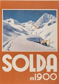 plakat solda m 1900 (sölden mit der königsspitze) by franz lenhart