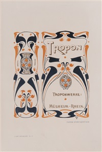 tropon, aus l'art décoratif no. 1 by henry van de velde