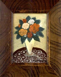 still life of flowers in a vase by horace pippin