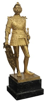 figure of knight peter discher by hans müller