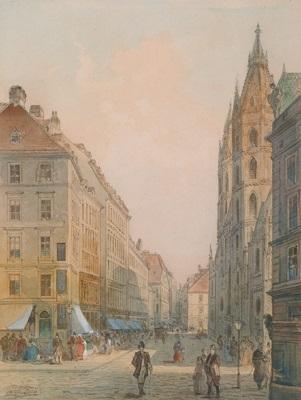 wien stephansplatz by johann wilhelm frey