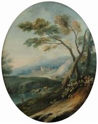 paesaggi ed armenti ed architetture (+ 2 others; 3 works) by italian school-genoa (18)