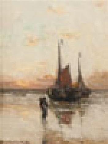 barques au couchant retour de pêche by gerhard arij ludwig morgenstjerne munthe