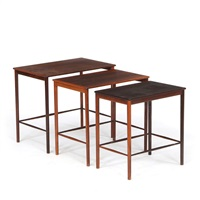 Delightful Set Of Three Rosewood Nesting Tables, 1962. Grete Juel Jalk Images