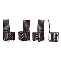 high sticking chairs (set of 4) by frank gehry