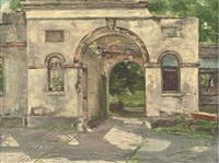 the old stables, lupton manor, devon (+ the greater glory of whom?, larger; 2 works) by victor macclure