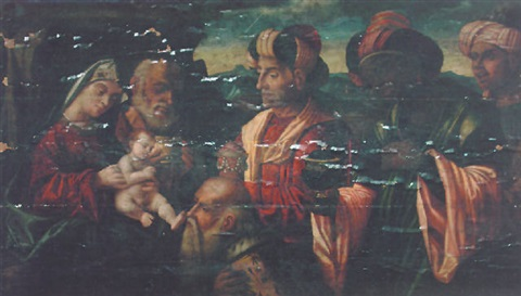 the adoration of the magi by francesco rizzo da santacroce