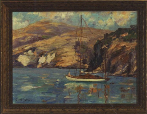 flying cloud fourth of july cove by george sumner colman