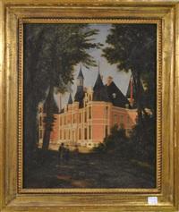 le château de la hulpe by léon-auguste mellé