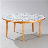 circular coffee table by bjørn wiinblad