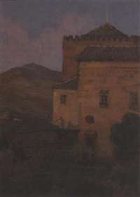 a bit of the alhambra, granada, spain, 1912 by anna lee stacey