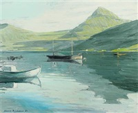 landscape, the faroe islands by joannis kristiansen