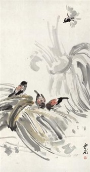 芭蕉小鸟 (birds and banana leaves) by luo ming