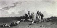 arabian herdsmen by hendrik jan (hans) van wyk